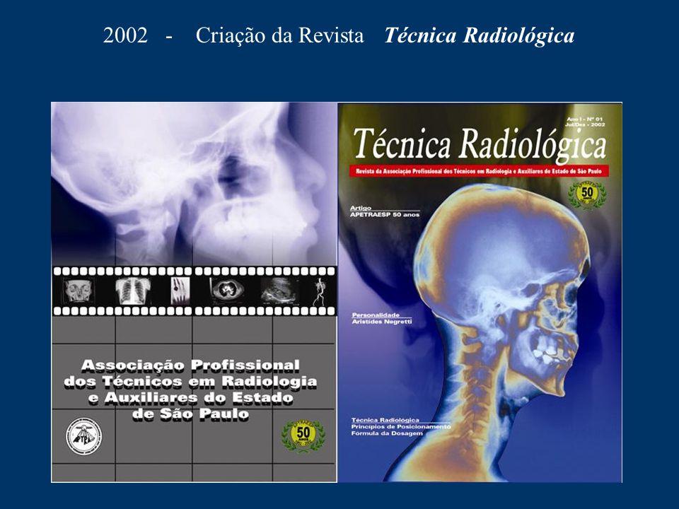 2002 - Criação da Revista Técnica Radiológica