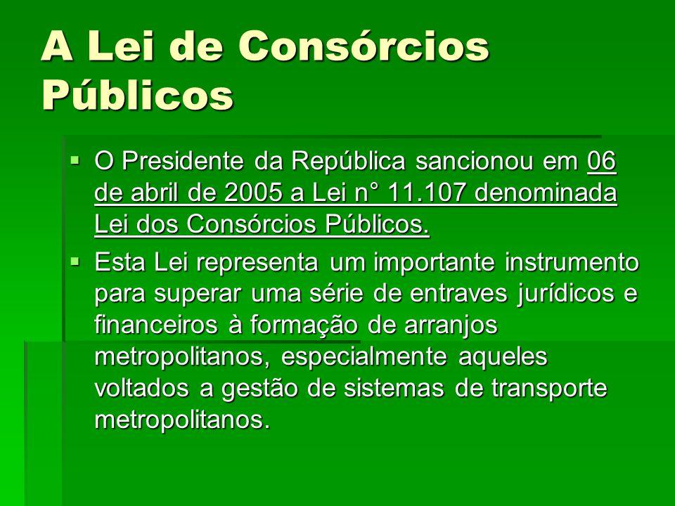 A Lei de Consórcios Públicos