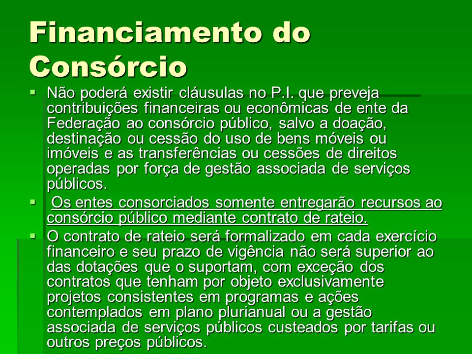 Financiamento do Consórcio