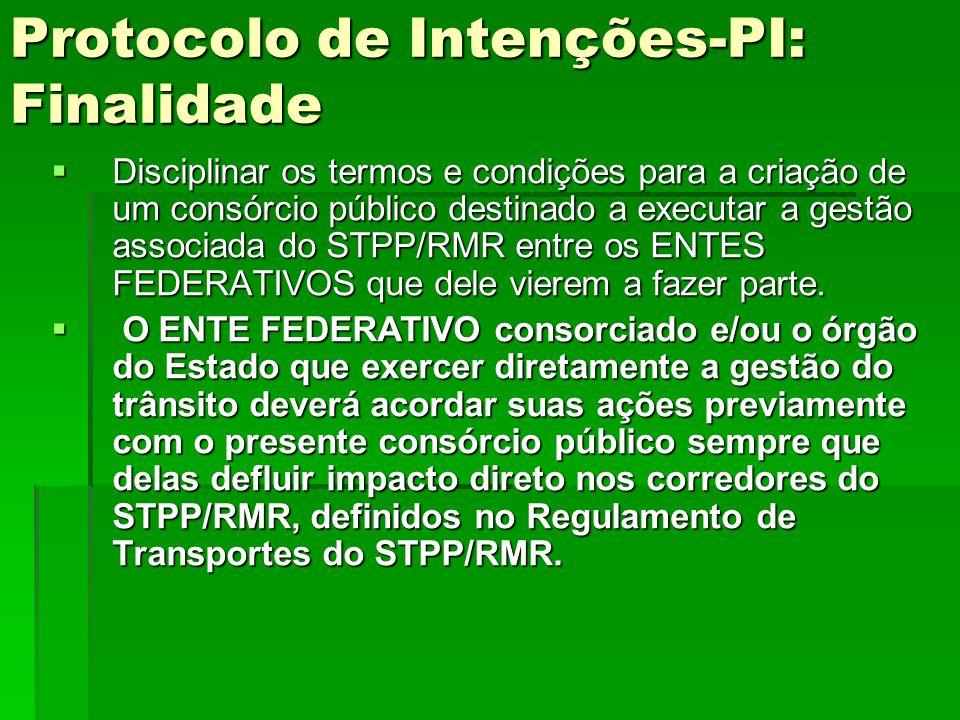 Protocolo de Intenções-PI: Finalidade