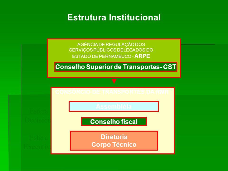 Estrutura Institucional Conselho Superior de Transportes- CST
