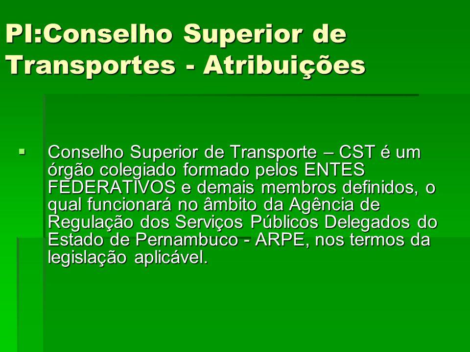 PI:Conselho Superior de Transportes - Atribuições