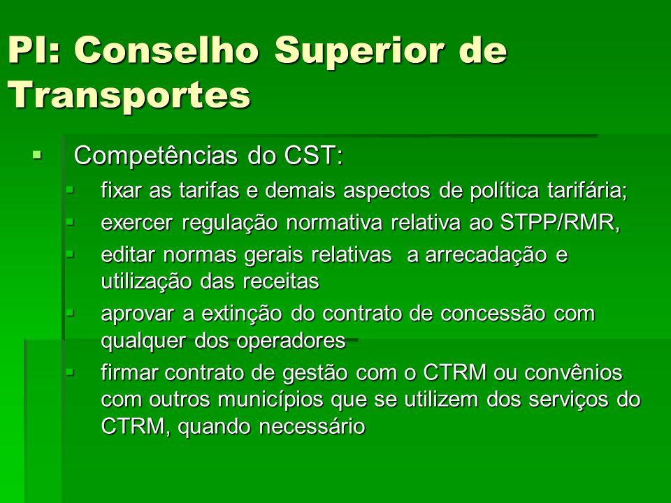 PI: Conselho Superior de Transportes