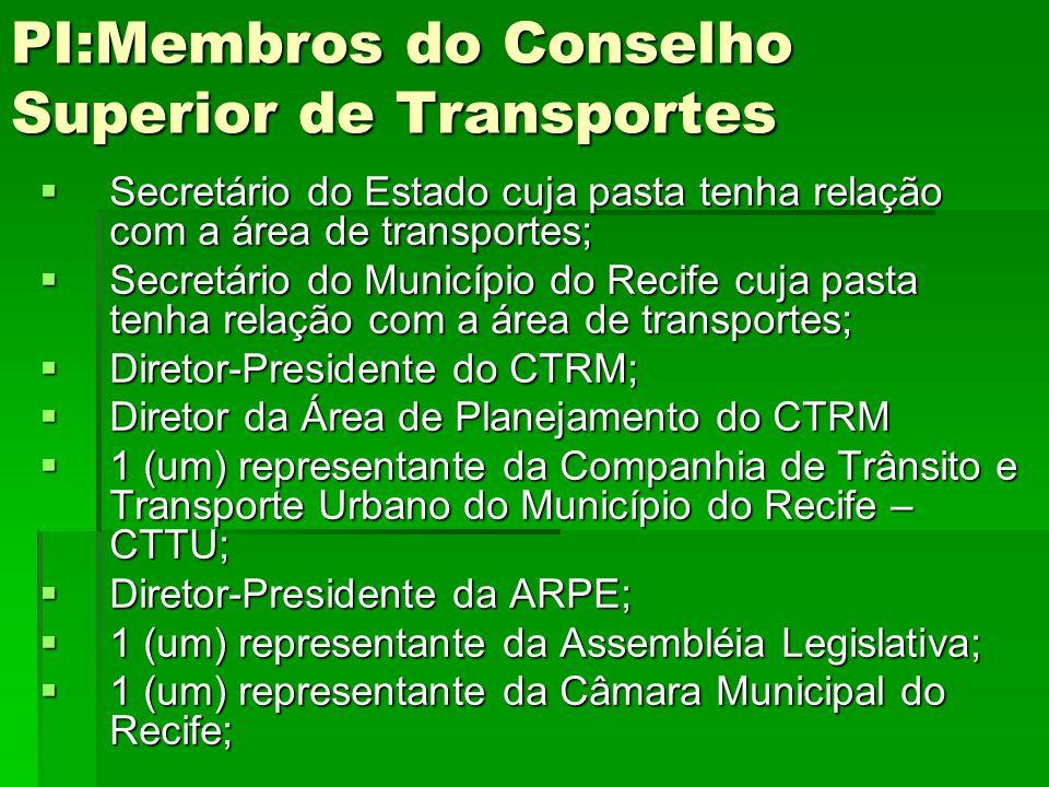 PI:Membros do Conselho Superior de Transportes