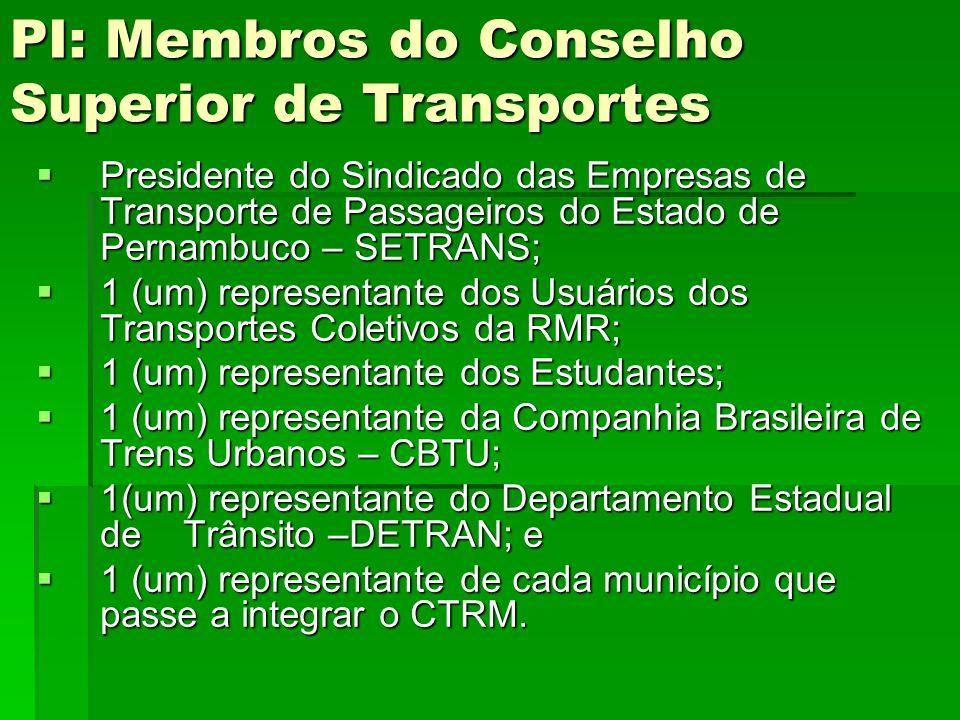 PI: Membros do Conselho Superior de Transportes