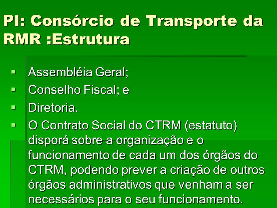 PI: Consórcio de Transporte da RMR :Estrutura