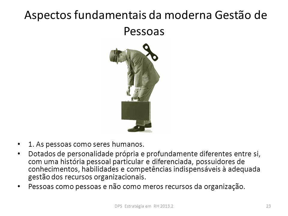 Aspectos fundamentais da moderna Gestão de Pessoas