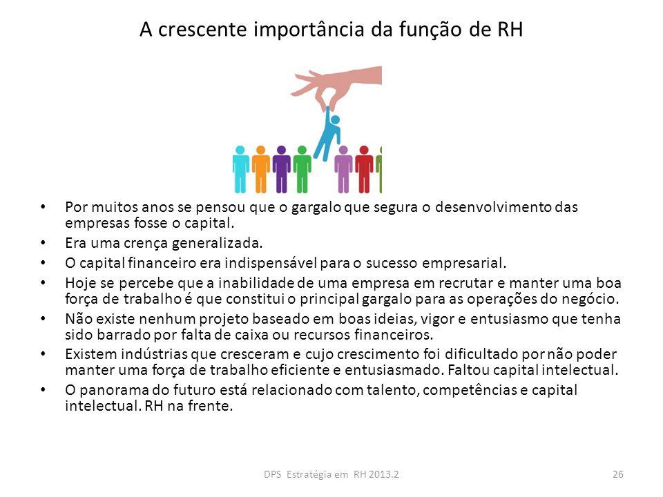 A crescente importância da função de RH