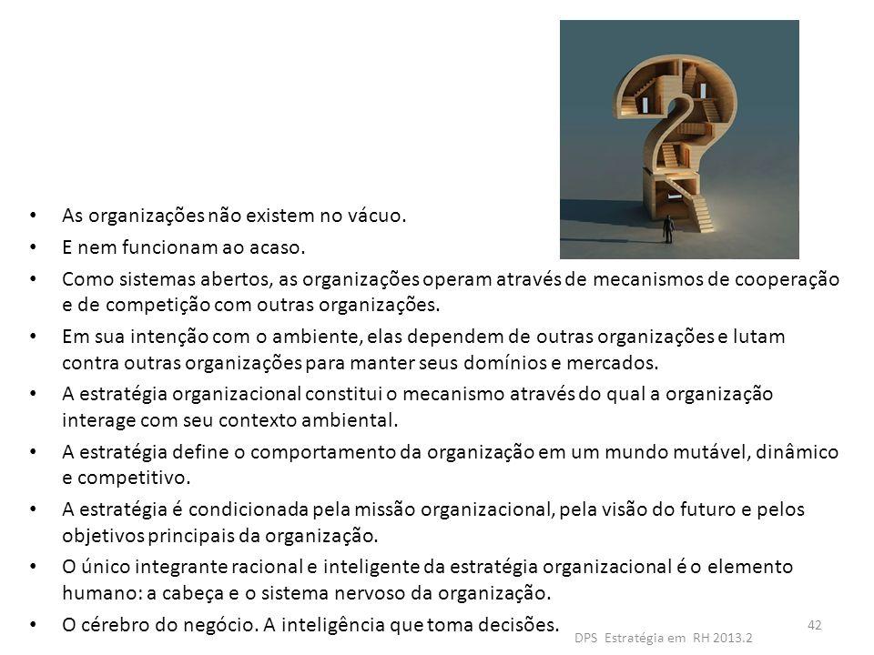 As organizações não existem no vácuo. E nem funcionam ao acaso.