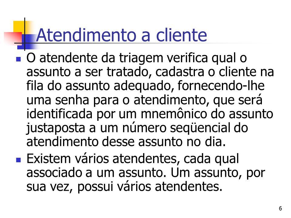 Atendimento a cliente