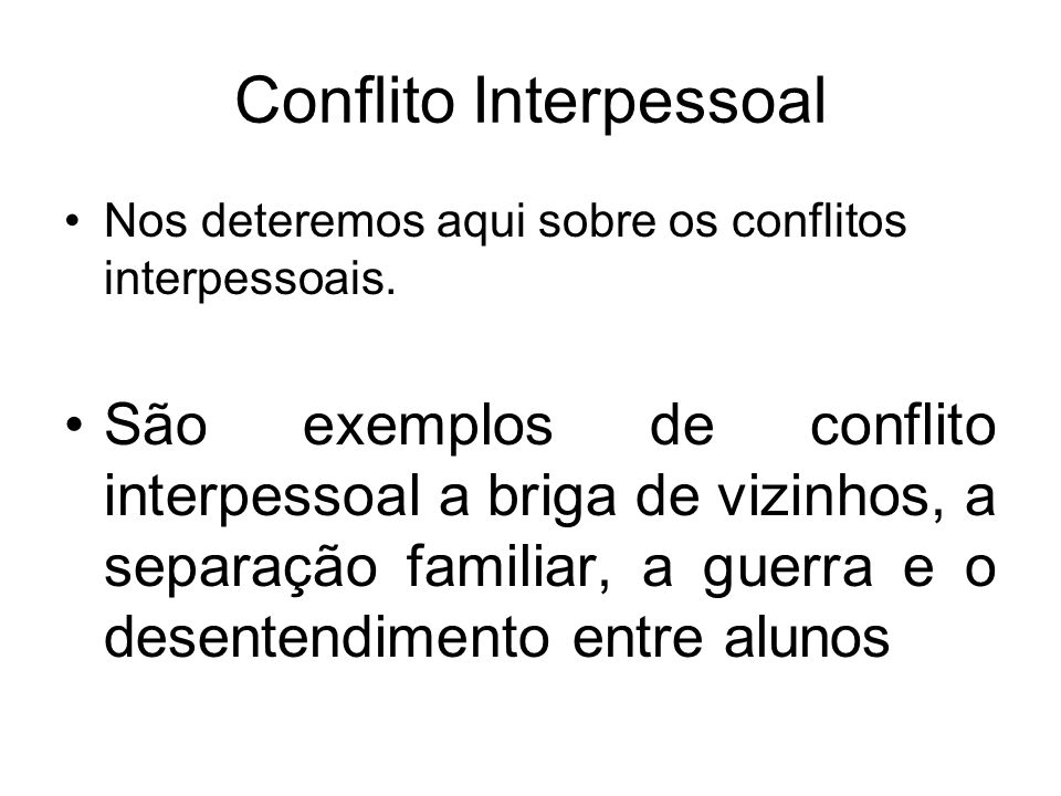 Conflito Interpessoal