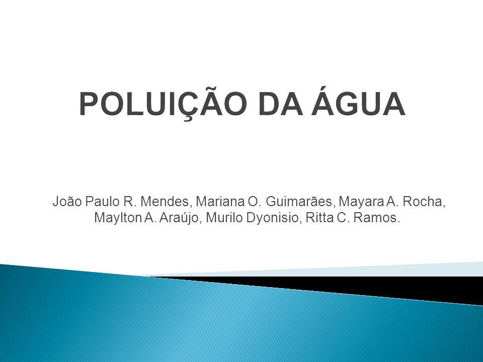 POLUIÇÃO DA ÁGUA João Paulo R. Mendes, Mariana O.