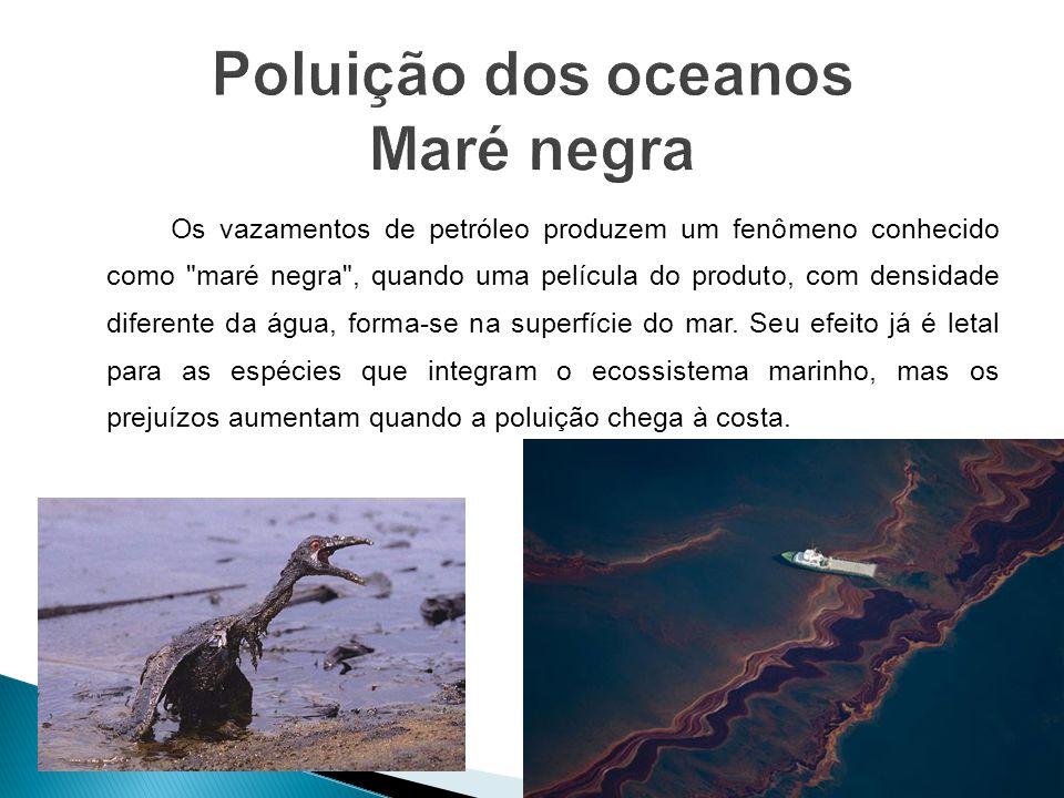 Poluição dos oceanos Maré negra
