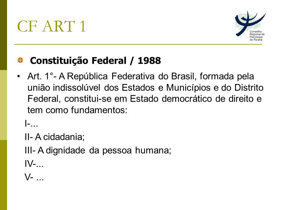 CF ART 1 Constituição Federal / 1988