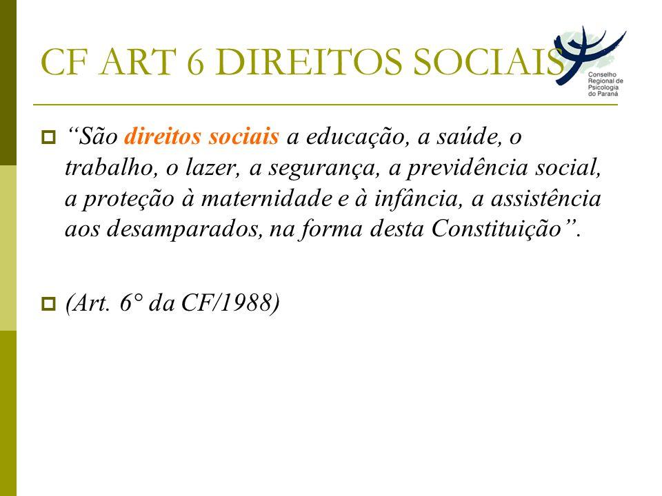 CF ART 6 DIREITOS SOCIAIS