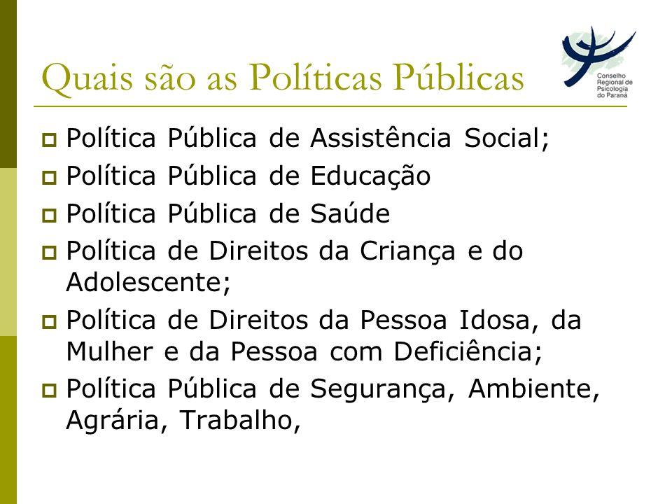 Quais são as Políticas Públicas