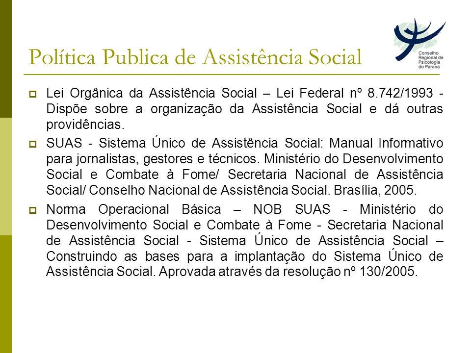 Política Publica de Assistência Social
