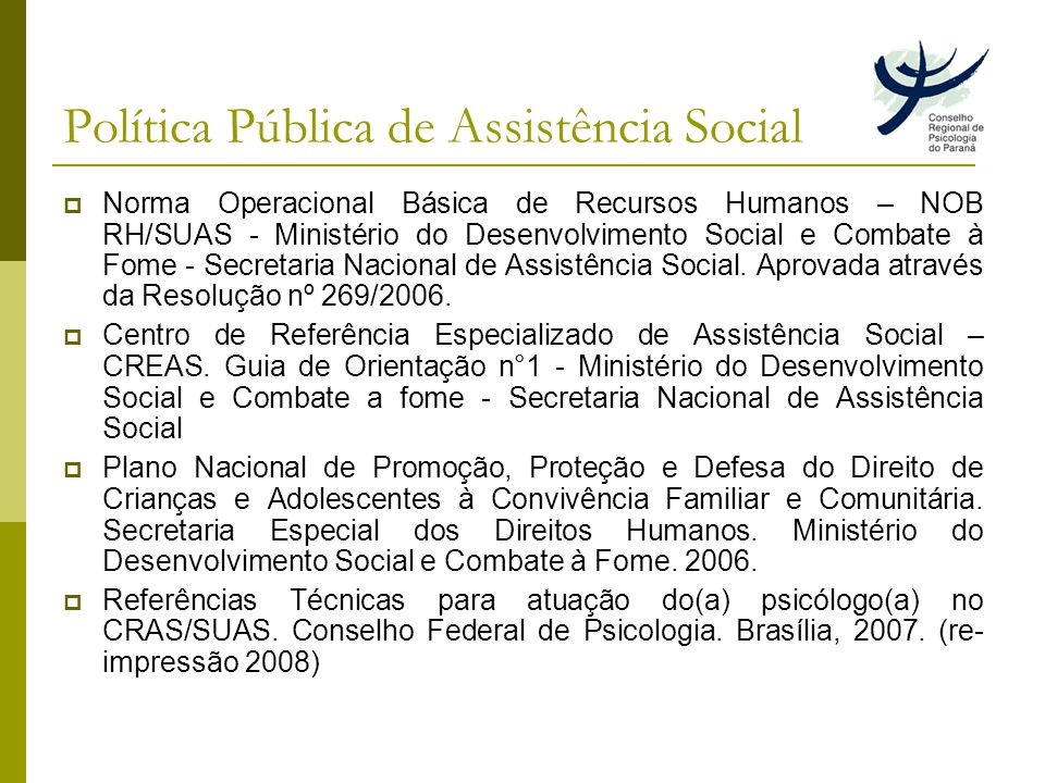 Política Pública de Assistência Social