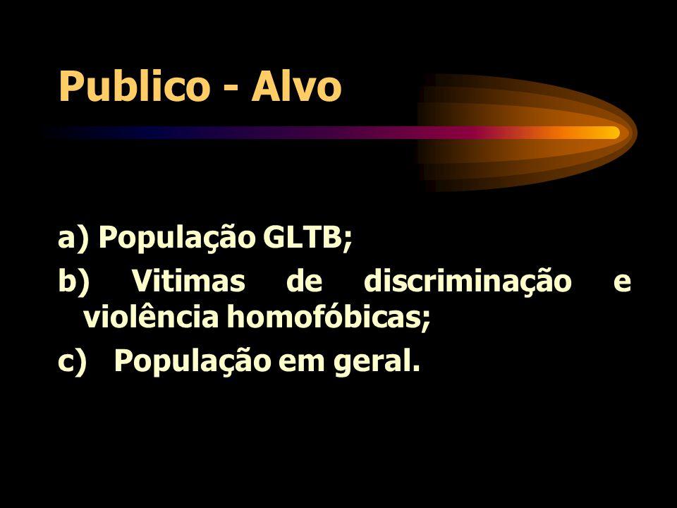 Publico - Alvo a) População GLTB;