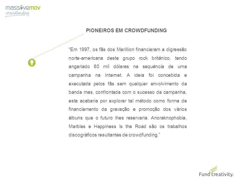 PIONEIROS EM CROWDFUNDING
