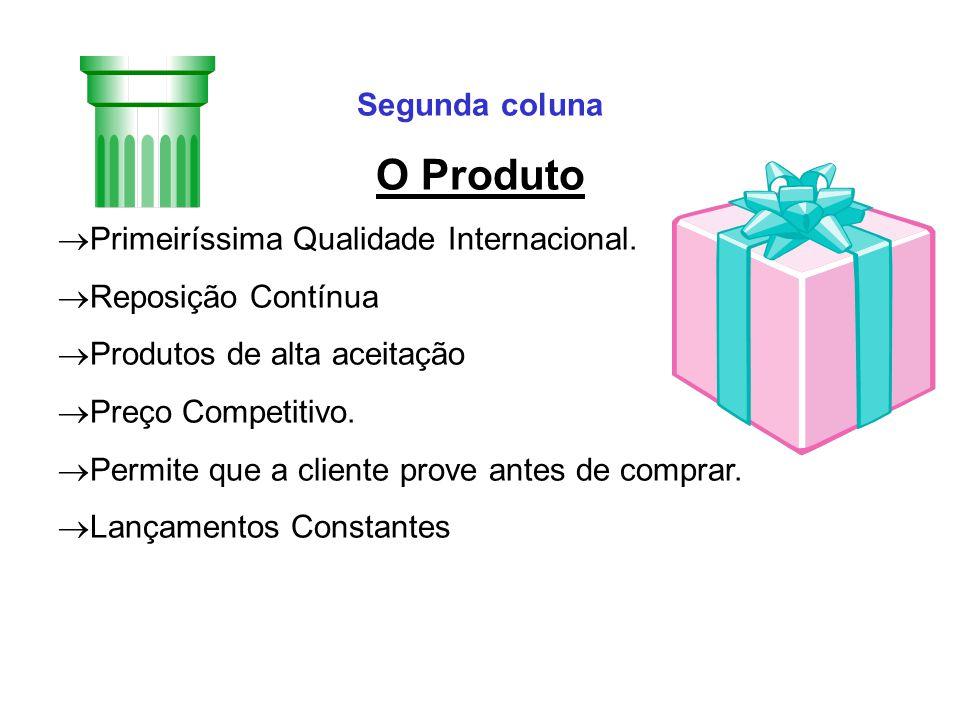 O Produto Segunda coluna Primeiríssima Qualidade Internacional.