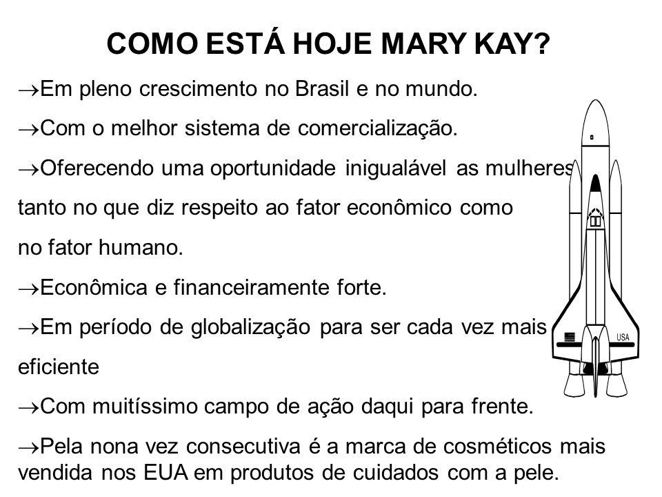 COMO ESTÁ HOJE MARY KAY Em pleno crescimento no Brasil e no mundo.