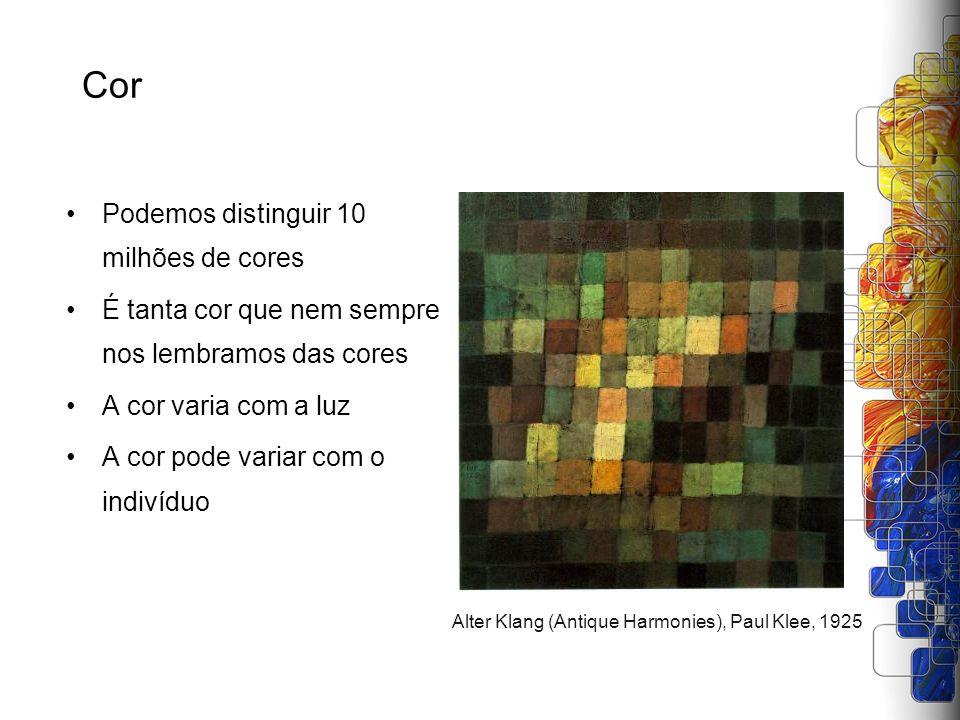 Cor Podemos distinguir 10 milhões de cores