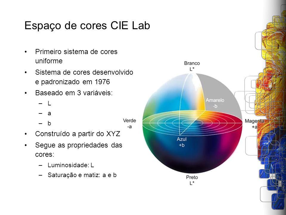 Espaço de cores CIE Lab Primeiro sistema de cores uniforme