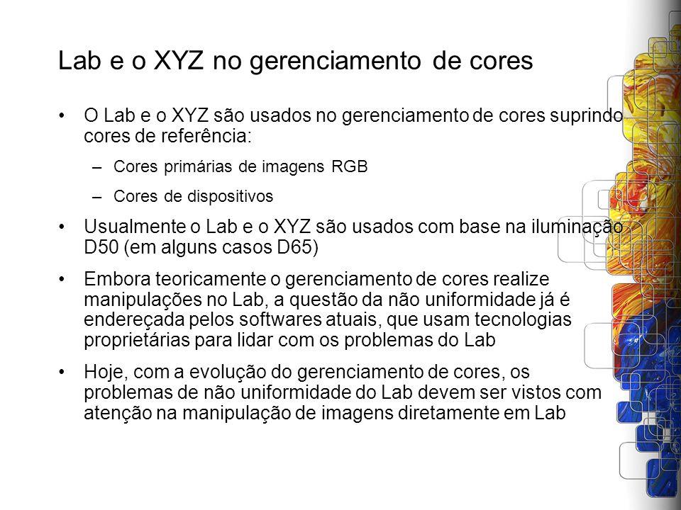 Lab e o XYZ no gerenciamento de cores