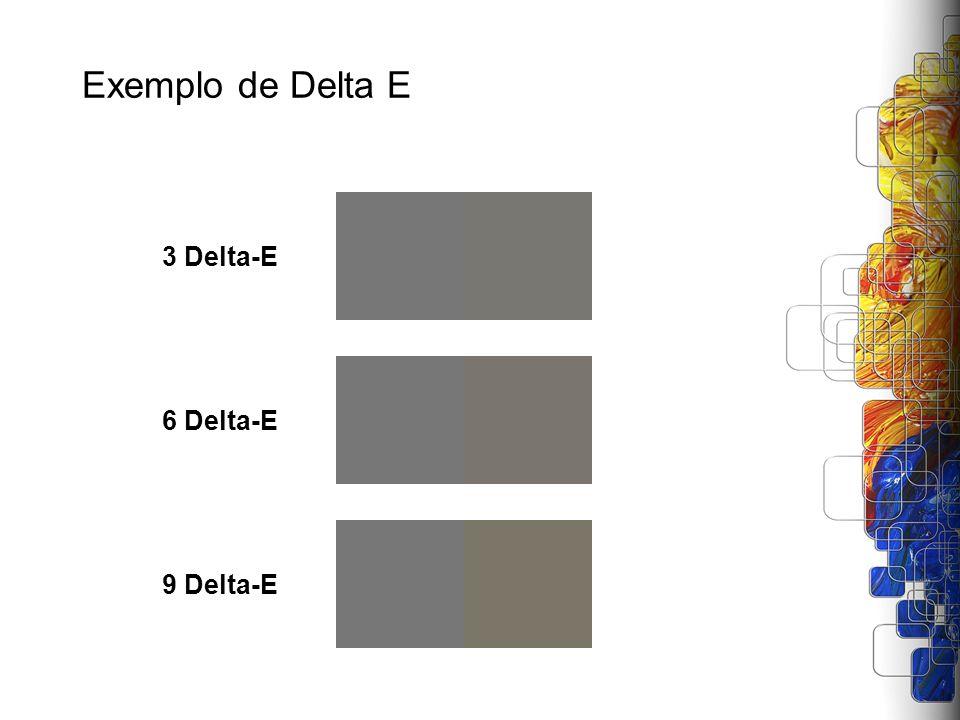 Exemplo de Delta E 3 Delta-E 6 Delta-E 9 Delta-E