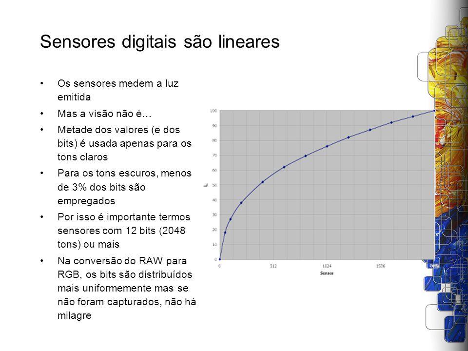 Sensores digitais são lineares