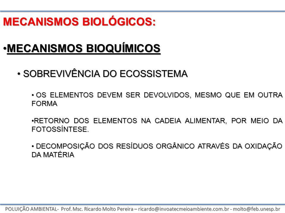 MECANISMOS biológicos: Mecanismos bioquímicos