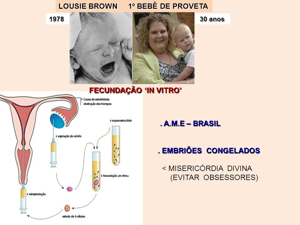 LOUSIE BROWN 1º BEBÊ DE PROVETA