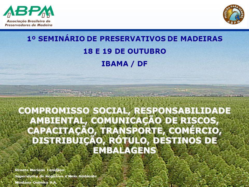 1º SEMINÁRIO DE PRESERVATIVOS DE MADEIRAS