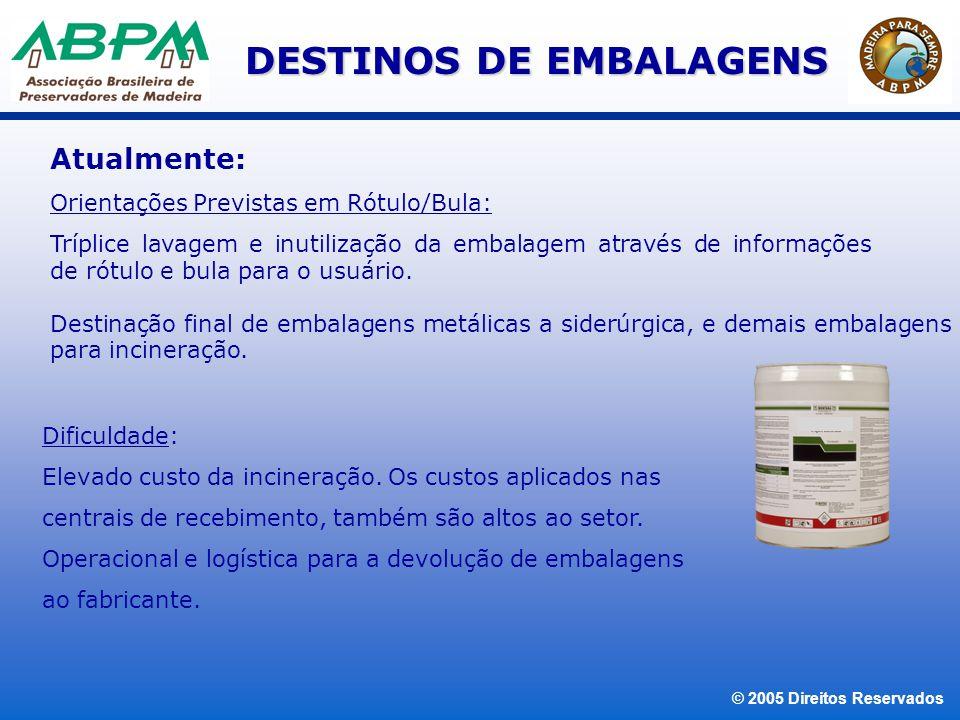 DESTINOS DE EMBALAGENS