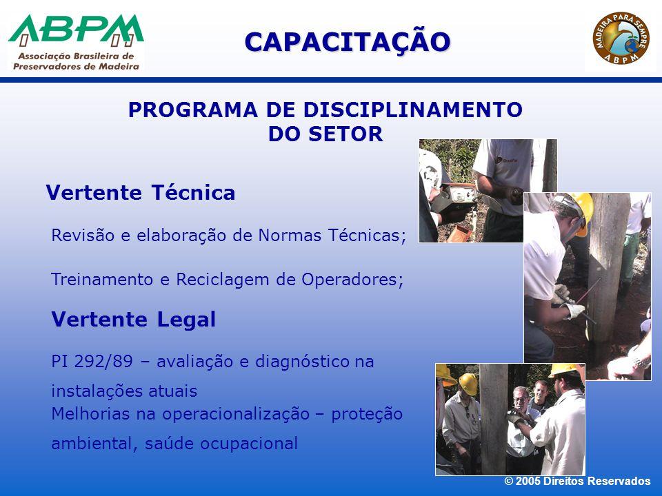 PROGRAMA DE DISCIPLINAMENTO DO SETOR
