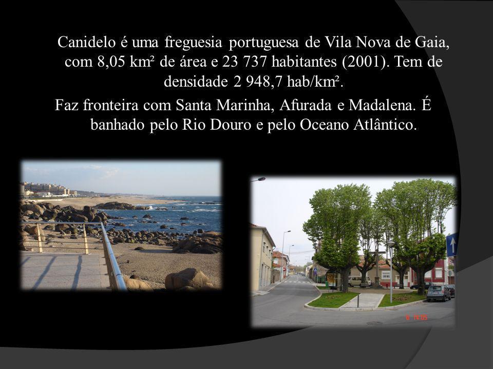 Canidelo é uma freguesia portuguesa de Vila Nova de Gaia, com 8,05 km² de área e 23 737 habitantes (2001).