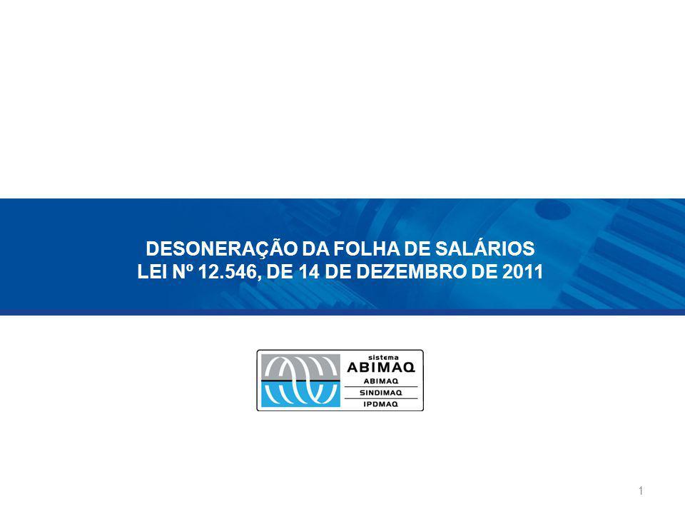 DESONERAÇÃO DA FOLHA DE SALÁRIOS LEI Nº 12
