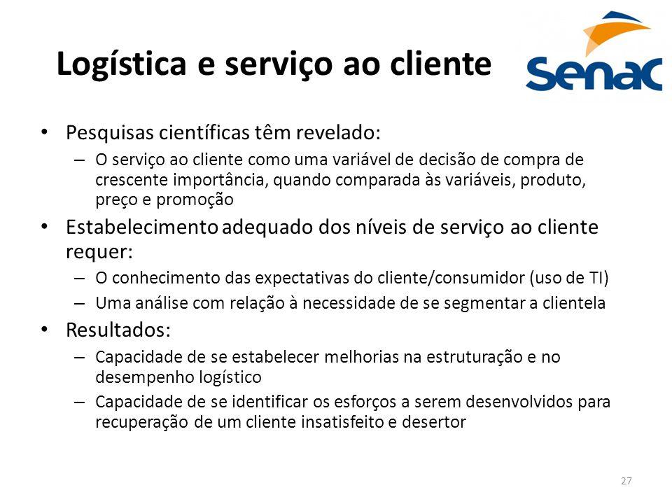 Logística e serviço ao cliente