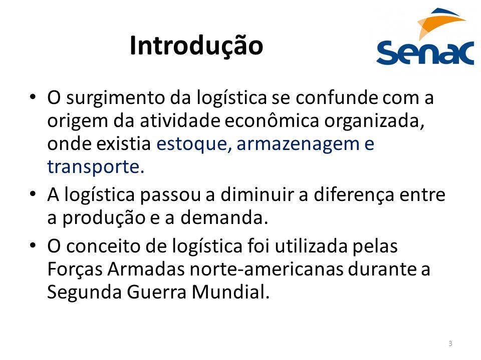 Introdução O surgimento da logística se confunde com a origem da atividade econômica organizada, onde existia estoque, armazenagem e transporte.