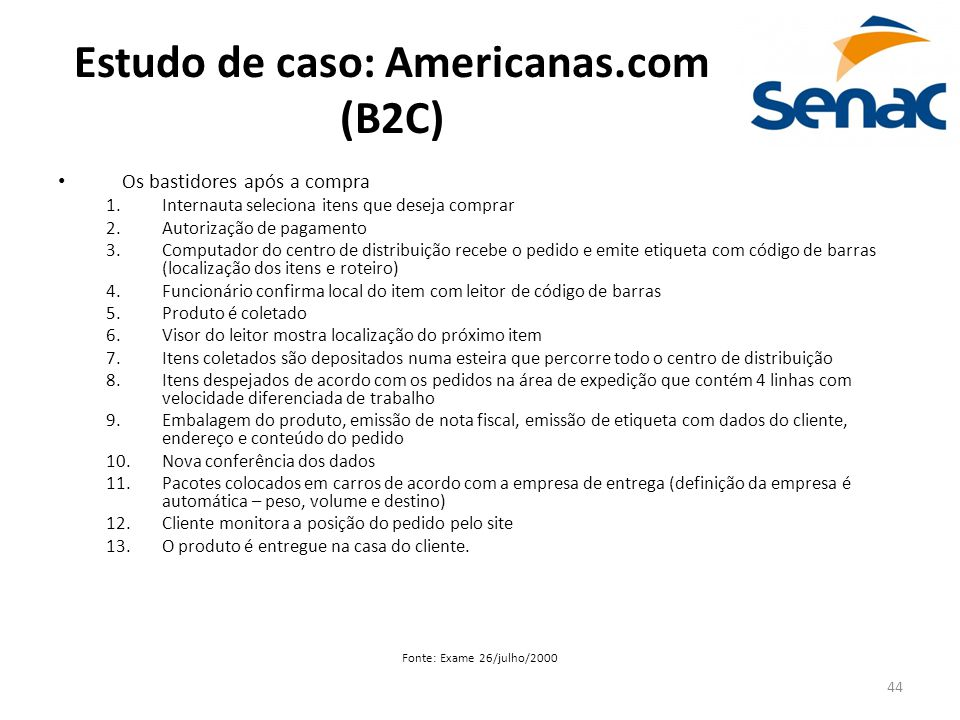 Estudo de caso: Americanas.com (B2C)