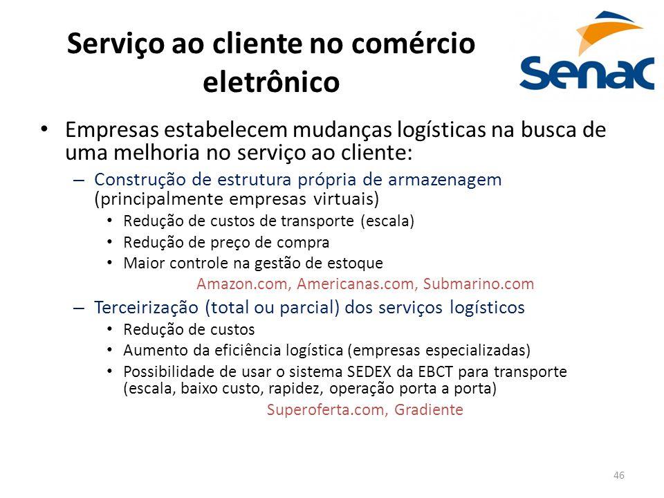 Serviço ao cliente no comércio eletrônico