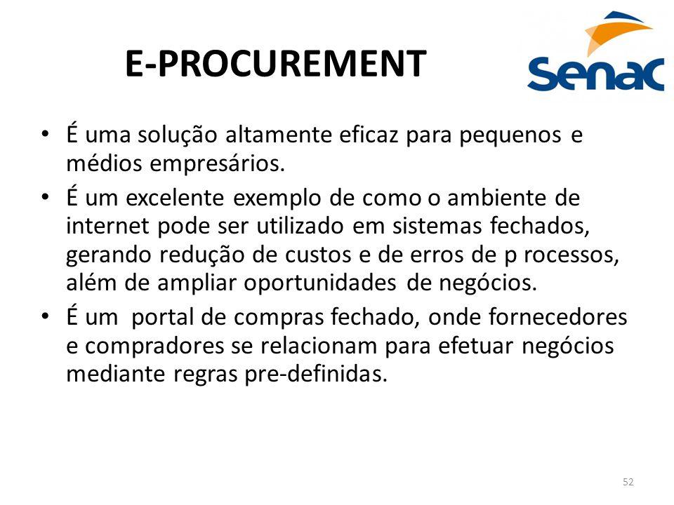 E-PROCUREMENT É uma solução altamente eficaz para pequenos e médios empresários.