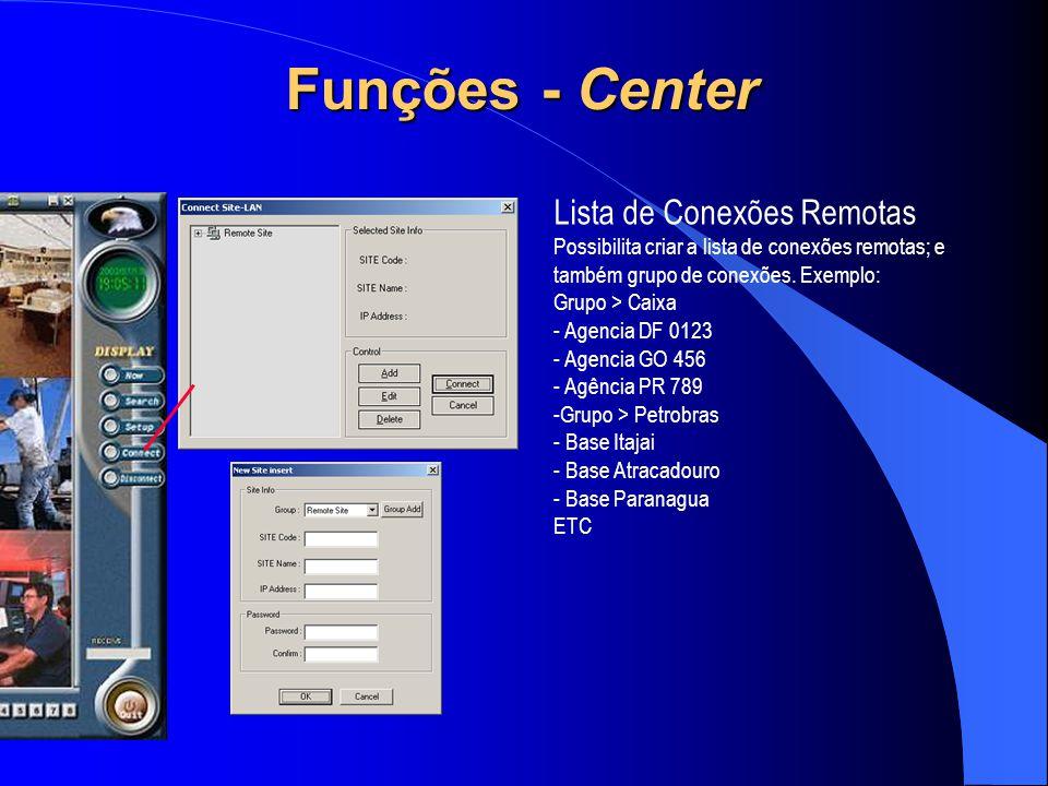 Funções - Center Lista de Conexões Remotas