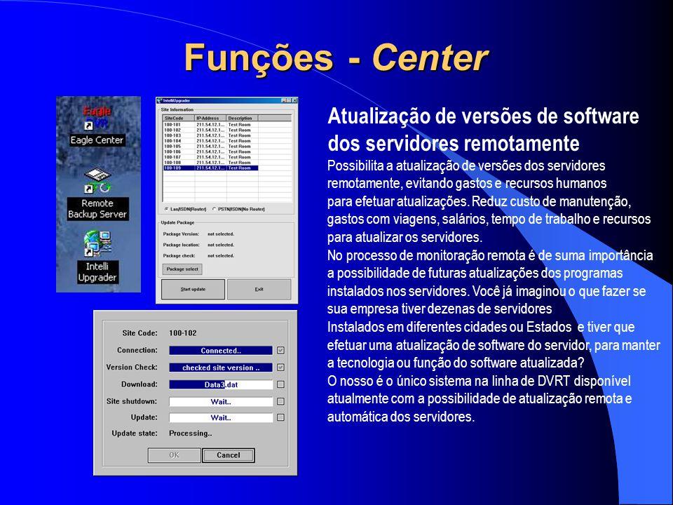 Funções - Center Atualização de versões de software