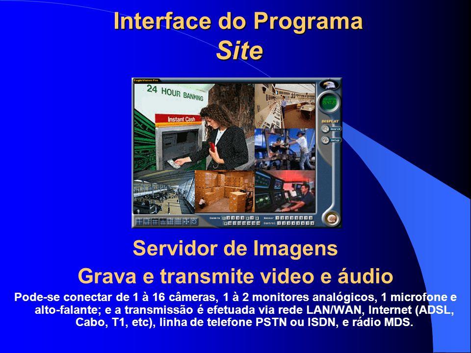 Interface do Programa Site