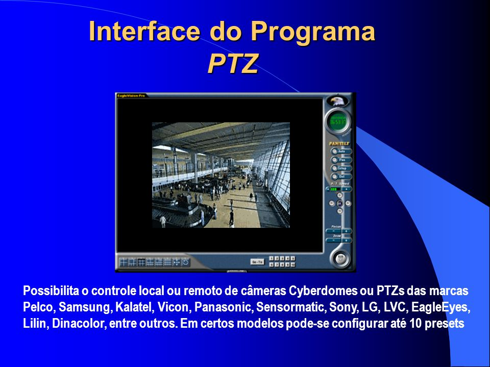 Interface do Programa PTZ