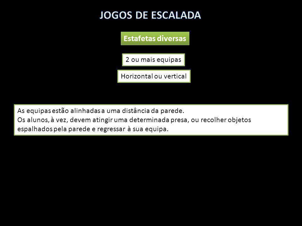 JOGOS DE ESCALADA Estafetas diversas 2 ou mais equipas