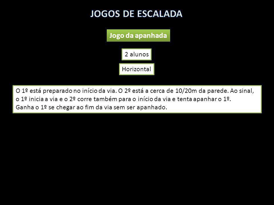 JOGOS DE ESCALADA Jogo da apanhada 2 alunos Horizontal