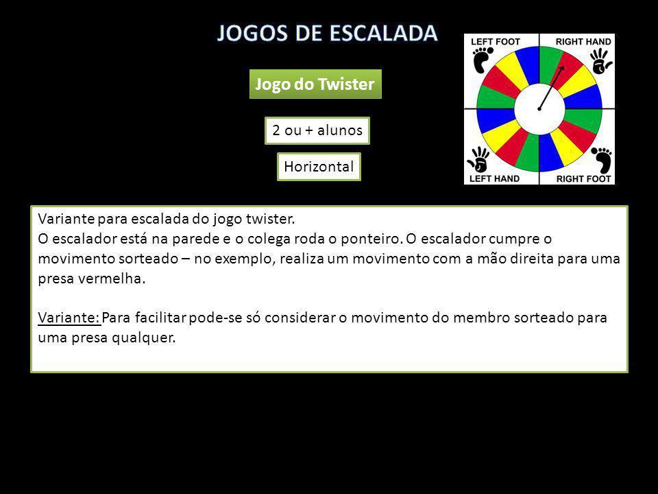 JOGOS DE ESCALADA Jogo do Twister 2 ou + alunos Horizontal